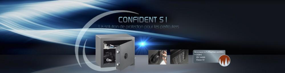 Coffre fort Confident S1 pour particuliers